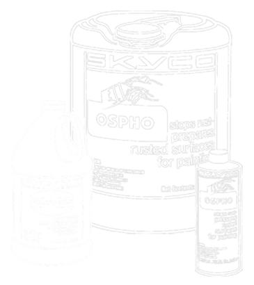 Ospho and Rust-i-cide container pictures